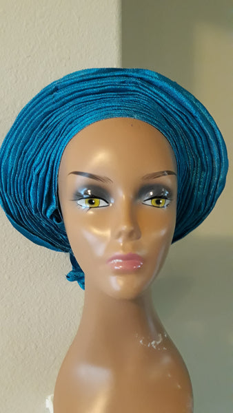 AutoGele- Blue Headwrap - Tie in Seconds - Express Gele