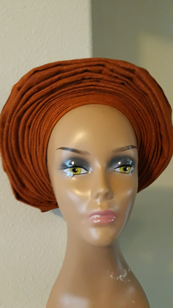 AutoGele - Brown Headwrap - Tie in Seconds - Express Gele