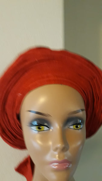 AutoGele- Red Headwrap- Tie in Seconds - Express Gele