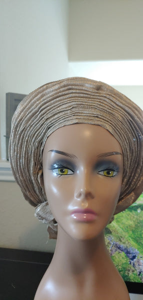 Nude Autogele | Ready to Tie Head-wrap | Express Gele - Express Gele