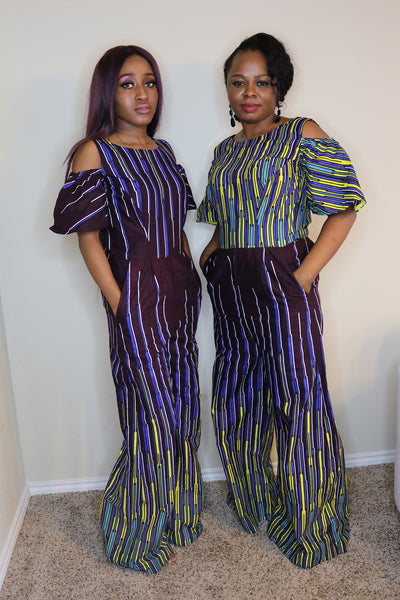 African Print Jumpsuit - Express Gele