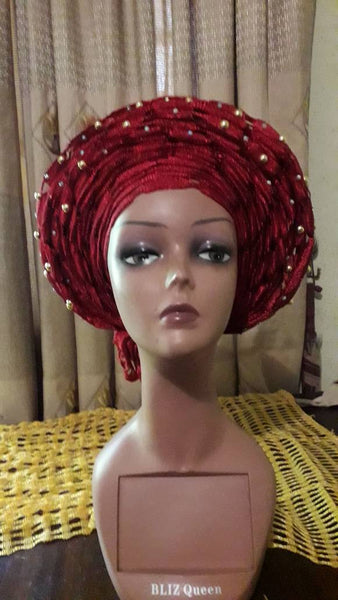 African head-wrap. Tie in seconds. Aso-oke Gele - Express Gele