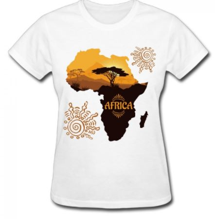 African Map Tee-Shirt plus a FREE African Earrings - Express Gele