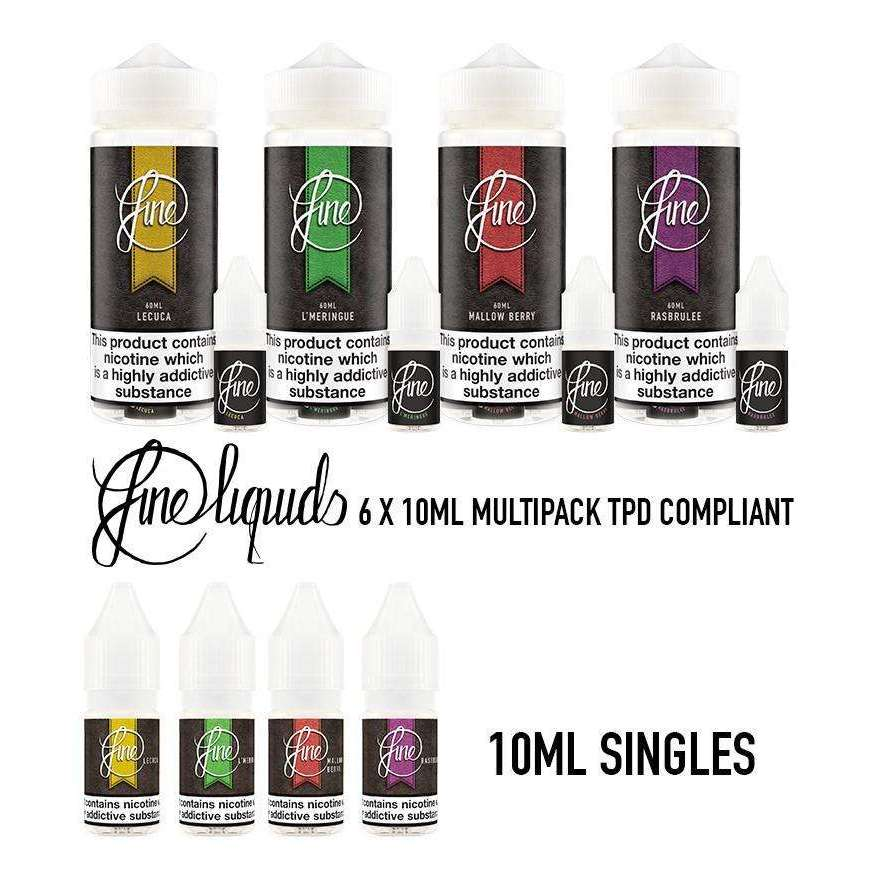 Fine E-Liquid - Lecuca Multipack 6x 10ml