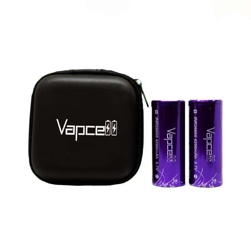 2 x Vapecell INR 26650 Batteries Including Carry Case