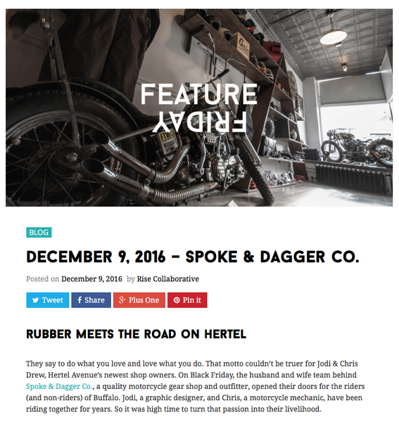 Rise Collaborative visits Spoke & Dagger Co.