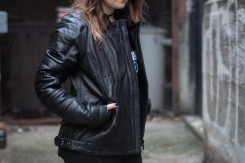 Roberta Leather Biker Jacket