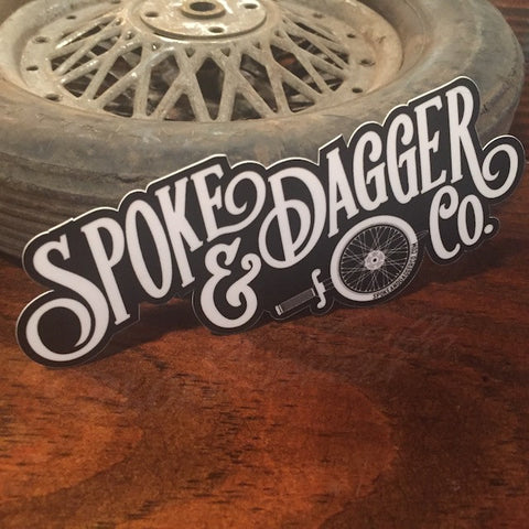 Spoke & Dagger Logo Sticker