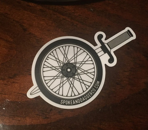 Spoke & Dagger Wheel Sticker