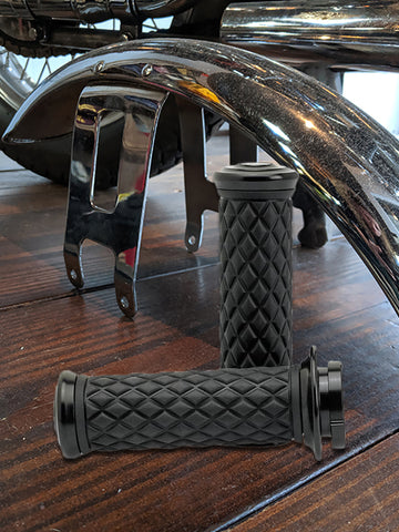 Biltwell AlumiCore Grip Set TBW - Black