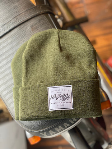 S&D Co. Motorcycle Goodies Beanie - Olive