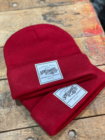 S&D Co. Motorcycle Goodies Beanie - Red