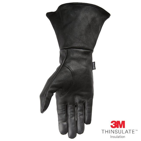 Thrashin Supply Insulated Gaunlet Siege Gloves - Black