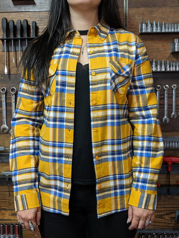 Women's Mustard Flannel