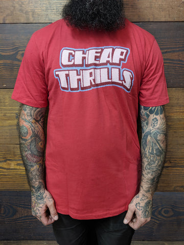 Cheap Thrills Red Logo Tee
