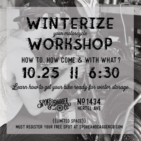 PAST EVENT: Winterize Your Bike Workshop @ S&D Co. (FREE)