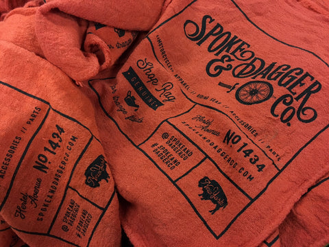 Spoke & Dagger Co. Shop Rag: 3 Colors