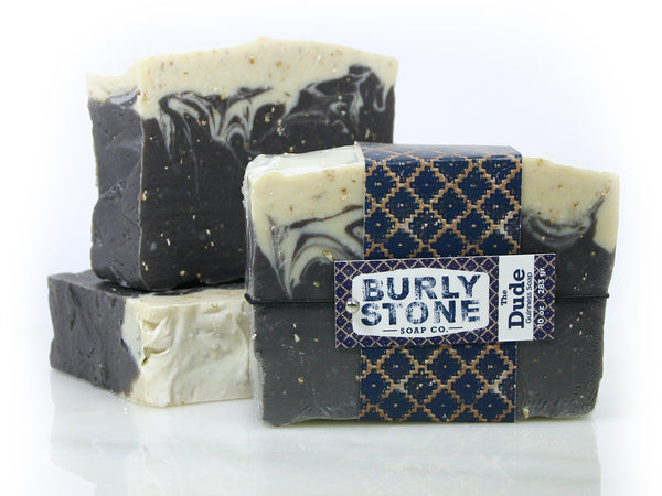 THE DUDE: Beer, Oatmeal, & Leather Scented Soap by Burly Stone Soap Co.