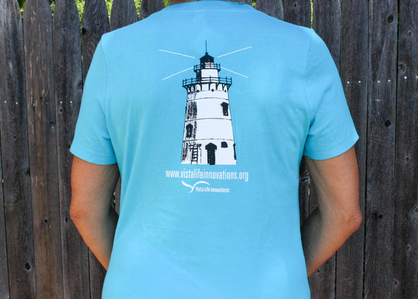 Believer in Abilities Lighthouse - Women's V-Neck Short Sleeve T-Shirt