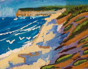 Beach Themed Painting Notecards by Vista - 6 pack