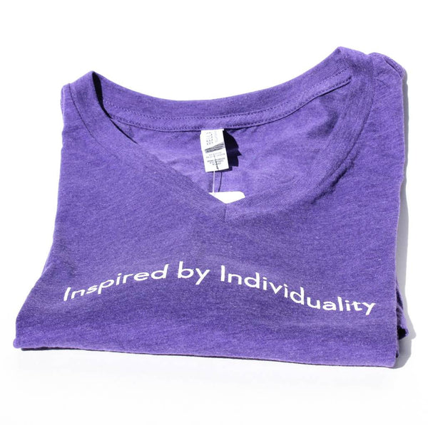 Inspired by Individuality Sailboat - Purple Short Sleeve Women's Cotton Blend Tee