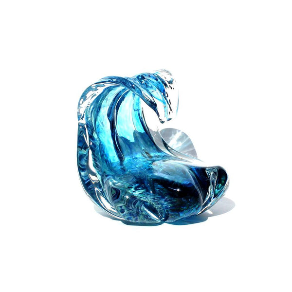 Glass Wave Sculpture by Anchor Bend Glassworks