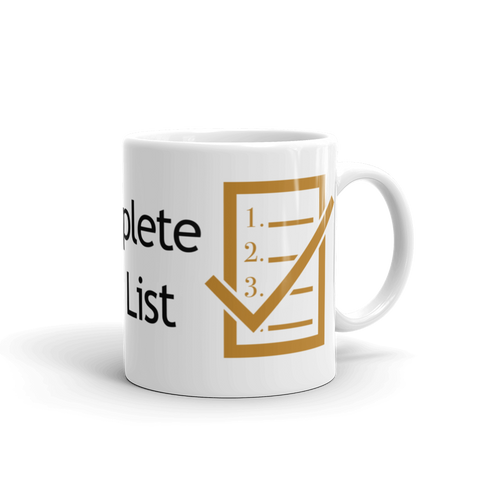 Complete The List Mug