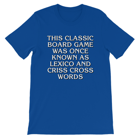 Crossword Game Unisex short sleeve t-shirt (New design!)