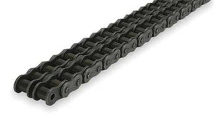 100-2R Steel Chain 50' | 100-2R DOUBLE STRAND CARBON STEEL | Ball Bearings | Belts
