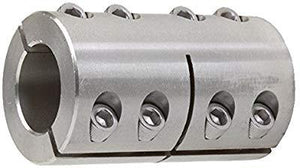 2ISCC-075-075-S | Double Split Stainless Steel Coupling | Ball Bearings | Belts