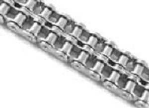 Stainless Steel Double Roller Chain 10' 100-2SS  | 100-2R DOUBLE STRAND STAINLESS STEEL | Ball Bearings | Belts