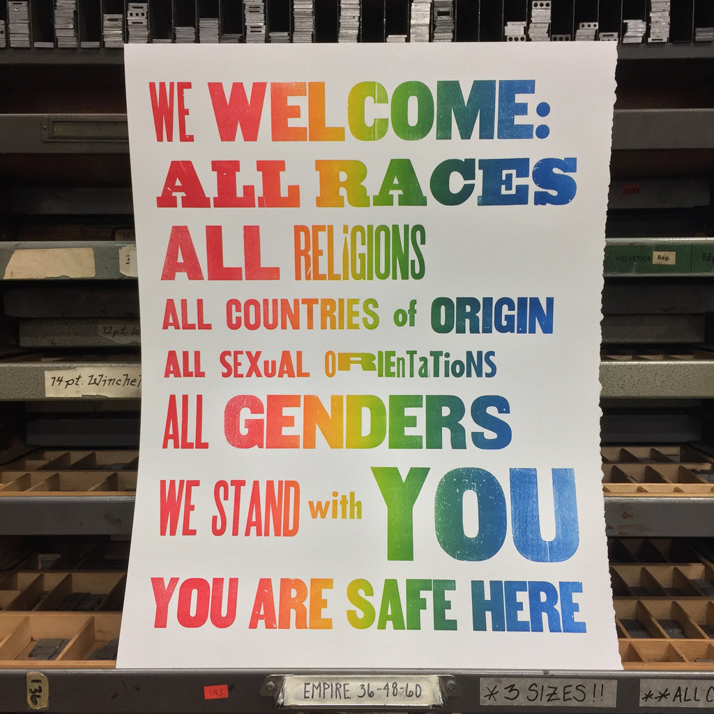 """We Welcome:..."" Rainbow Roll on White (2017)"