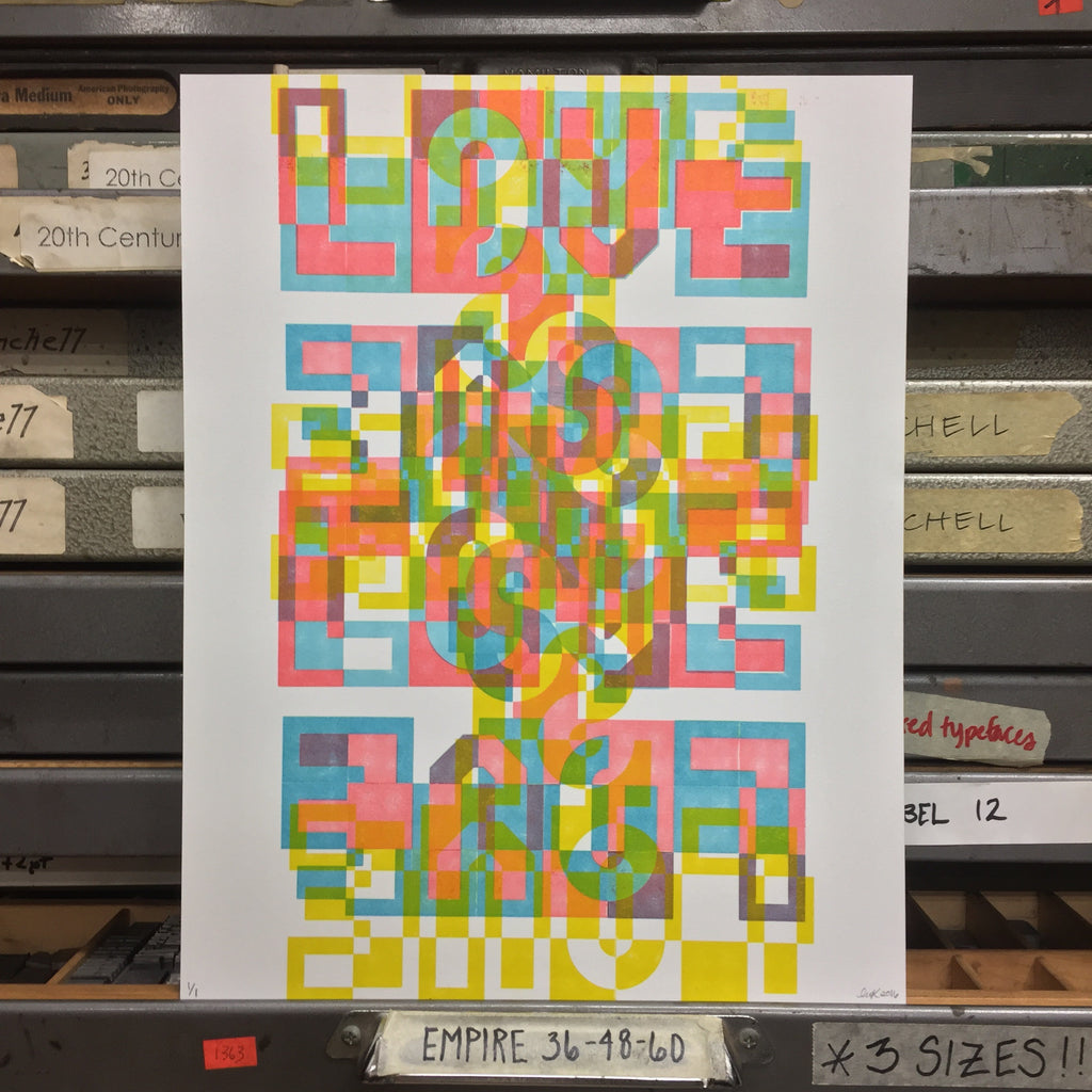 """Love is Love"" Monoprint"