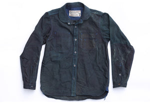 034 Work Shirt, Shawl Collar, Indigo Over-dyed
