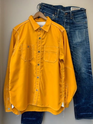 Wool-Blend 'Uniform Yellow' Workshirt