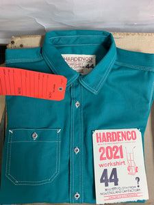 Red Tag: Peacock Green 2021 New England Cap Workshirt Size 44