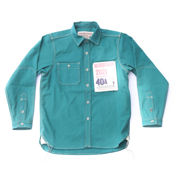 Red Tag: Peacock Green 2021 New England Cap Workshirt Size 42A
