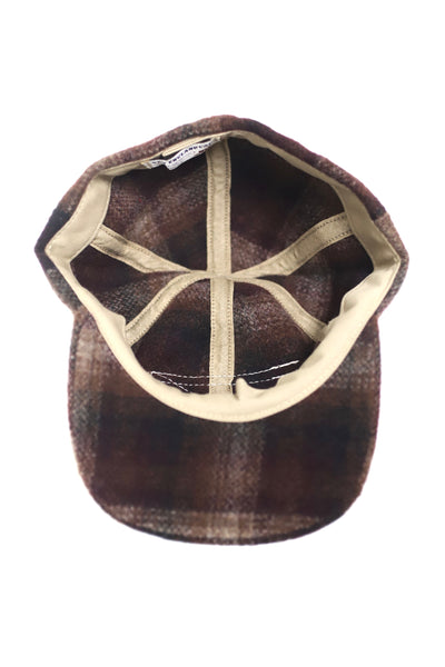 Fitted Wool Plaid Cap