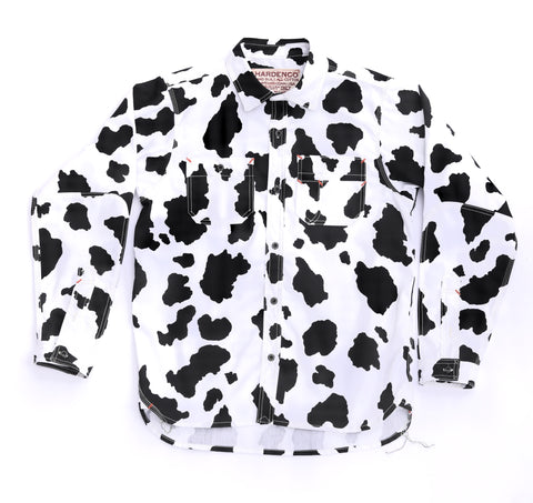 Cow Print Workshirt
