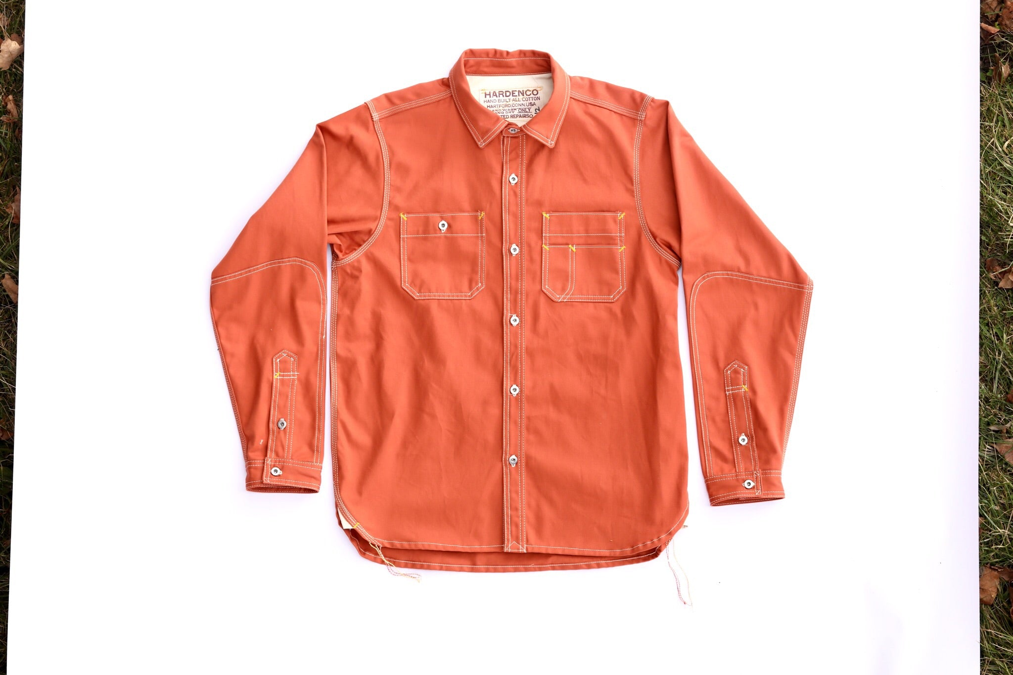 Orange workshirt