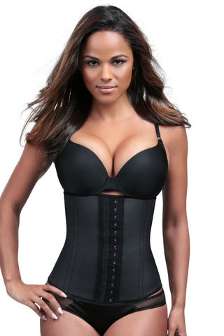 SLIMMING BLACK LATEX WAIST CINCHER | Esbelt | Coke Bottle Cartel