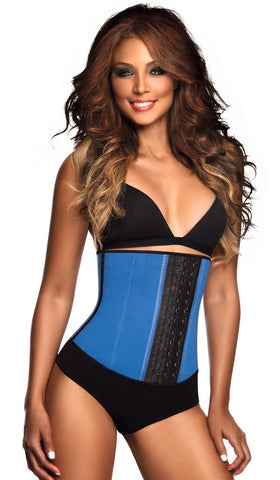 3 HOOK BLUE WORKOUT WAIST TRAINER | Ann Chery | Coke Bottle Cartel