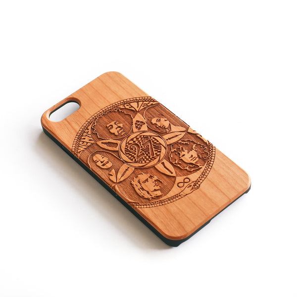 wooden iphone case in cherry wood, 27 club