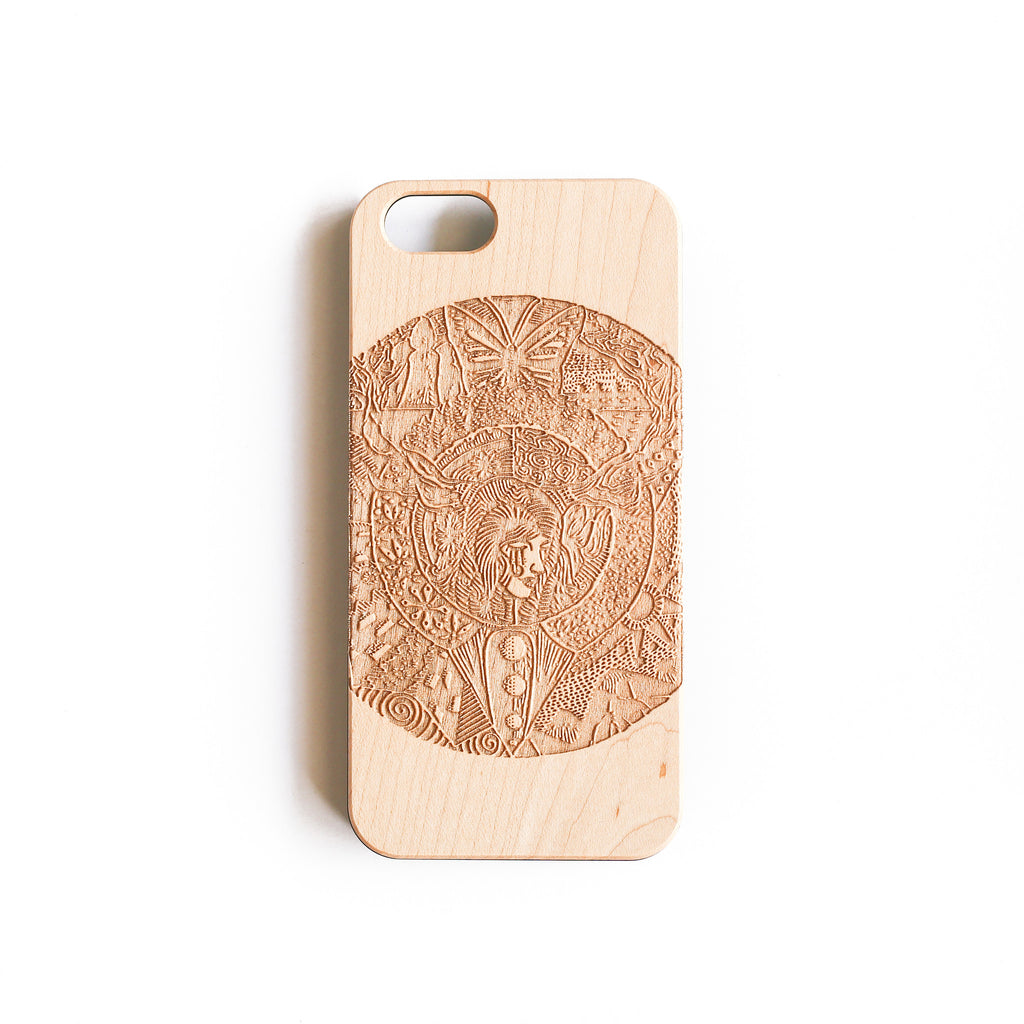 The Girl With Trees As Antlers iPhone 7/7+ Case