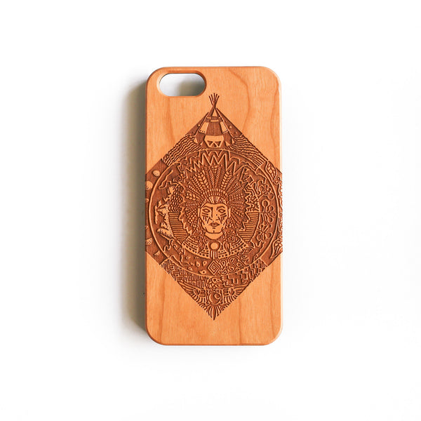 'Chief Red' iPhone Wood Case
