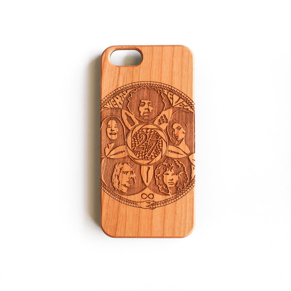 wood iphone case in cherry wood, 27 club