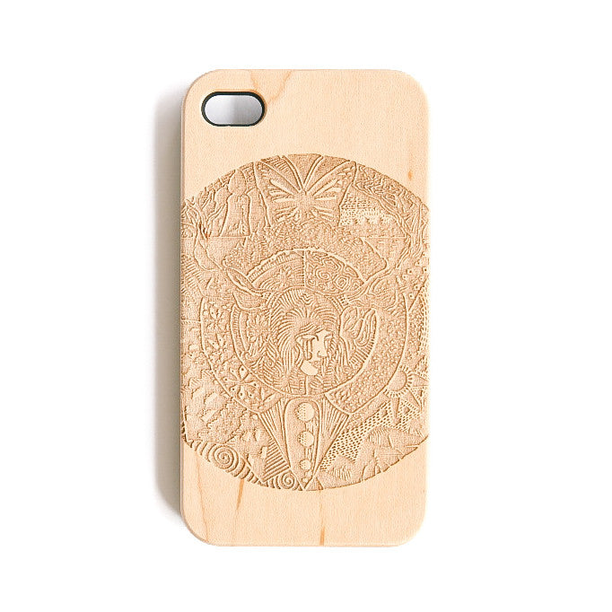 The Girl With Trees As Antlers iPhone 4 Case - SVNTY