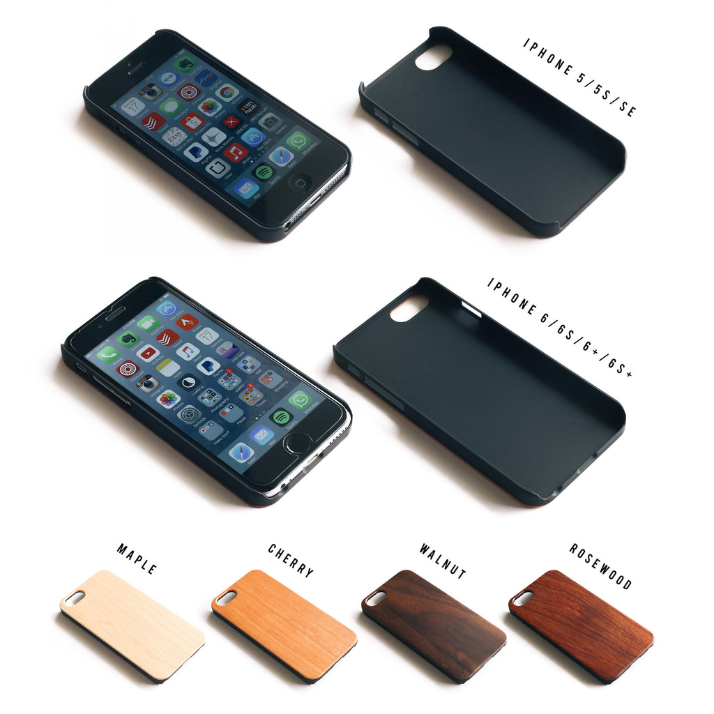 Plain Wooden iPhone 5/5S/SE Case