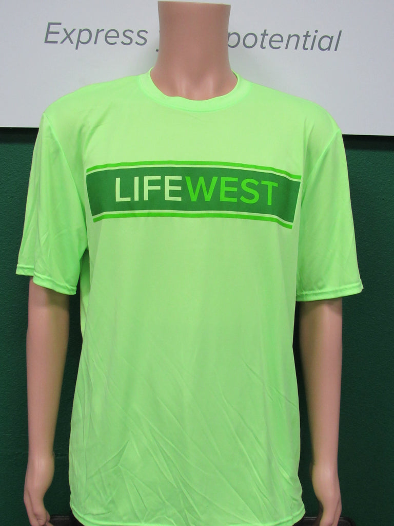 Life West Men's Neon Green Sport Shirt