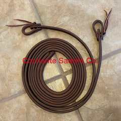 "#04 5/8"" Inch Split Reins 8 Feet Long - Corriente Saddle"